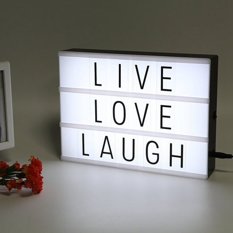 LED USB Night Light Box with A4 Letter Card DIY Combination - MooBooExpress