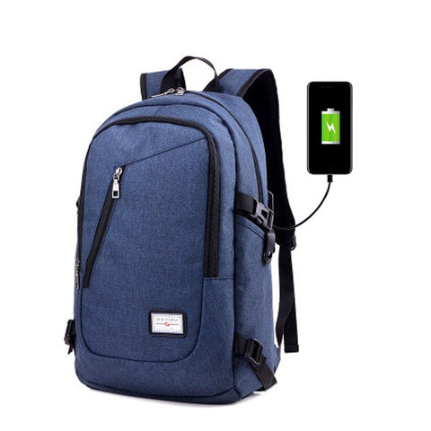 Waterproof Backpack Travel Bag With External USB Charging - MooBooExpress