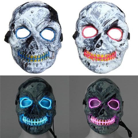 Novelties LED Skeleton Skull Mask, Costume Accessory - MooBooExpress