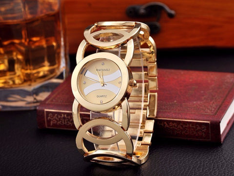 BAOSAILI Fashion Luxury Gold Color Dress Wristwatch, For Women Quartz Watch