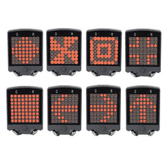 LED Wireless Remote Bicycle Rear Tail Light, Bike Turn Signals Safety Light