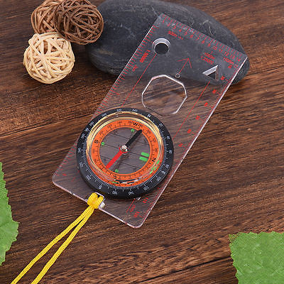 Outdoors Base Plate Ruler Map Scale Compass, Scouts Camping Hiking Kit - MooBooExpress