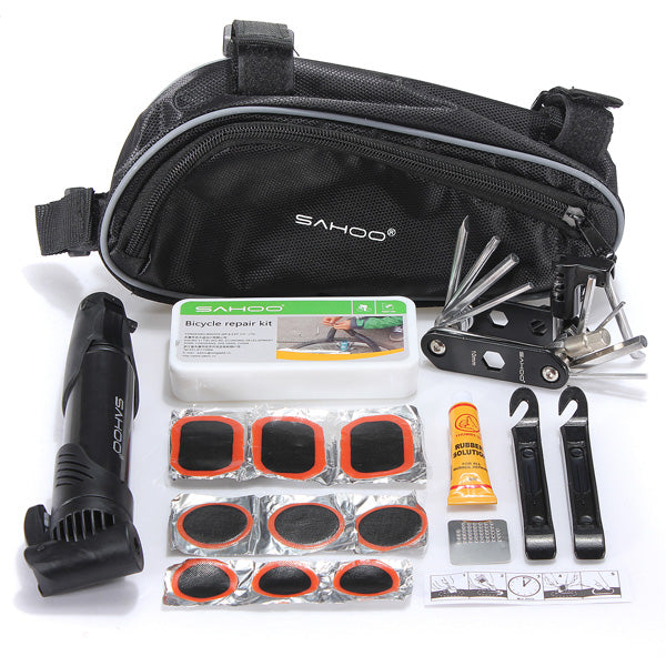Bike Bicycle Tire Multi-use Repair Tools, Mini Pump Kits Bag