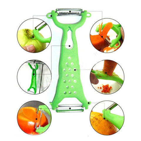 Vegetable Fruit Peeler, Julienne Cutter Slicer Gadget - MooBooExpress