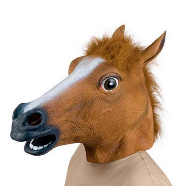 Creepy Horse Head Latex Mask, Face Rubber Mask