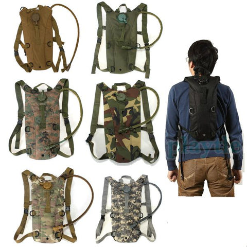Survival Hiking Climbing 3L Hydration System, Water Bag Pouch Bladder