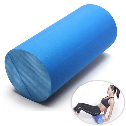 30x15cm EVA Yoga Therapy Foam Roller Grid Gym - MooBooExpress