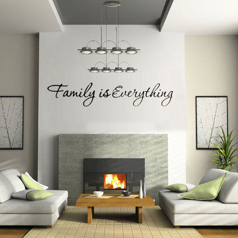 Family is Everything Removable Home Decor Art Vinyl Quote Wall Sticker - MooBooExpress