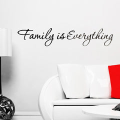 Family is Everything Removable Home Decor Art Vinyl Quote Wall Sticker