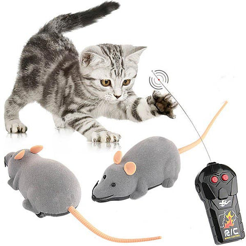 RC Simulation Plush Mouse Toy with Remote Controller