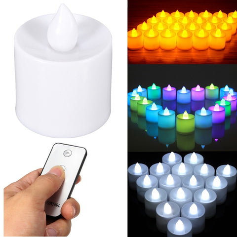 24pcs Flameless Battery Operated LED Candle Light, With Remote Control - MooBooExpress