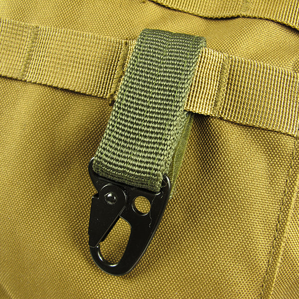 Carbine Hook Buckle Nylon Belt Hanging Key Ring Outdoor Tool
