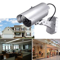 Dummy CCTV Outdoor Security Camera with 18 Red Flashing LED Light