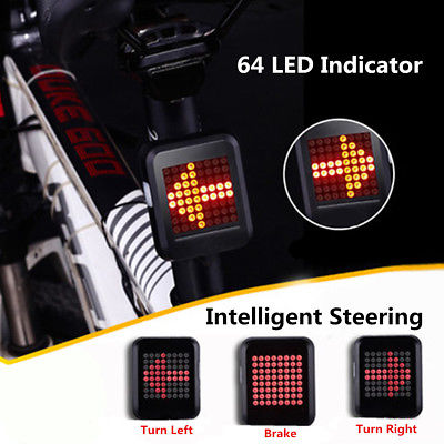 LED Wireless Remote Bicycle Rear Tail Light, Bike Turn Signals Safety Light - MooBooExpress