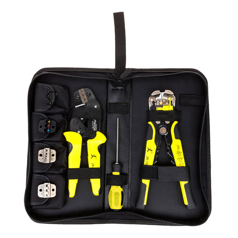 Paron® Multifunctional Ratchet Crimping Tool, Wire Strippers Terminals Pliers Kit - MooBooExpress
