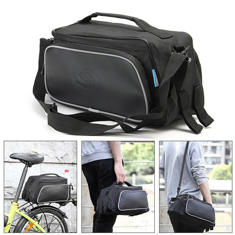 ROSWHEEL Bicycle Bag Rear Rack Pack Tail Seat Double Pannier