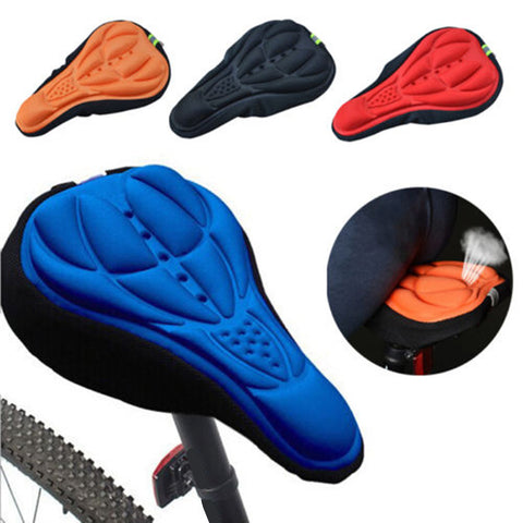 Outdoor Cycling Bicycle Silicone Gel Seat, Saddle Cover Soft Cushion - MooBooExpress