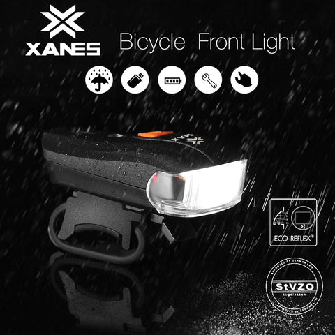 XANES 2 LED Bicycle Smart Sensor Warning Light, Waterproof Bike Headlight Night - MooBooExpress