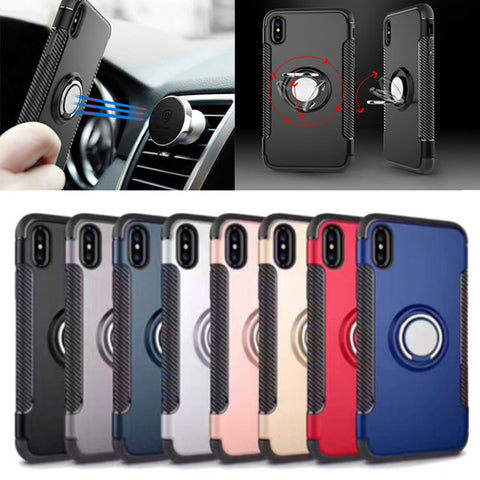 Ring Grip Stand Holder Case For iPhone X/7/8/6/6s/6 PLus/6s Plus/5/5s/SE