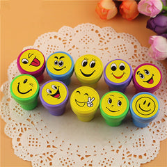 10Pcs Emoji Silly Face Stamps Set
