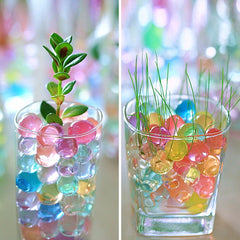 10000PCS/Bag Pearl Shaped Crystal Jelly Beads for Plant Flower Home Decor