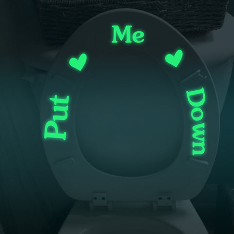 Put Me Down Bathroom Luminous Toilet Fluorescent Sticker