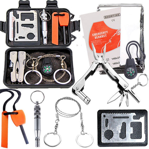 Outdoor Emergency Survival Equipment Kit, Tactical Hunting Tools - MooBooExpress