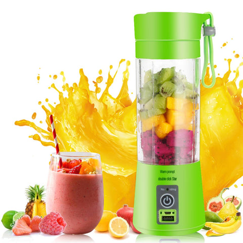 Portable USB Electric Blender Fruit Juicer Bottle Handheld Smoothie Maker