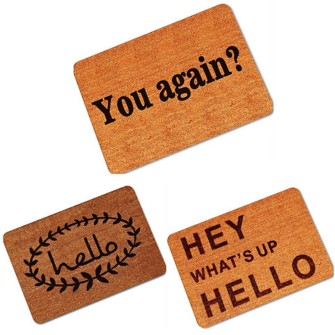 Non Slip Rubber Floor Mat Funny, Welcome Front Doormat Indoor Outdoor - MooBooExpress