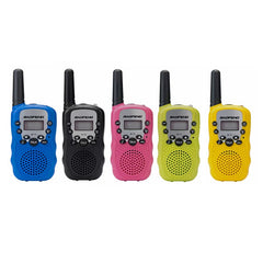 2Pcs Baofeng Radio Walkie Talkie 8 Channel, Built-in Flashlight 5 Colors