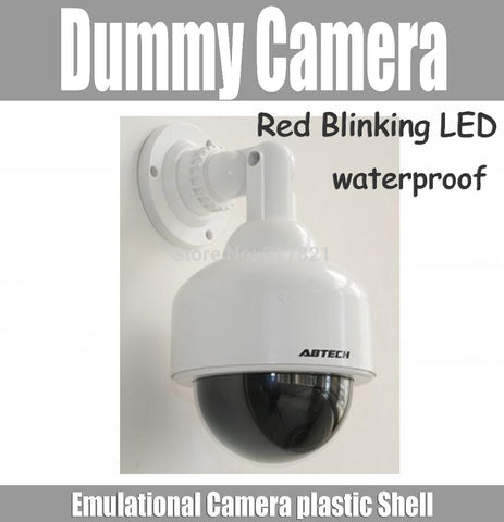 Waterproof Dummy Dome Fake Camera Surveillance Security CCTV Monitor - MooBooExpress