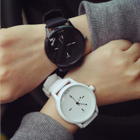 Fashion Casual Style Quartz Watch Silicone Strap Couple Watch - MooBooExpress