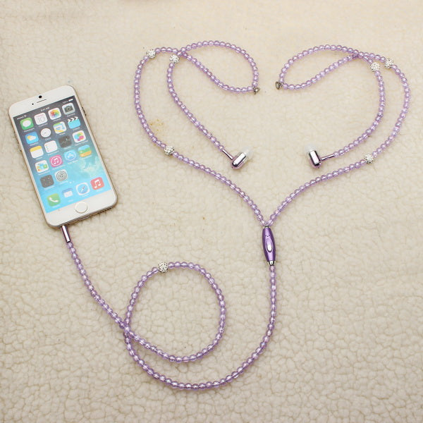 Bakeey™ Pearls Earphones Necklace Earphone For Smartphone