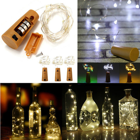 Battery Powered 10 LEDs Cork Shaped LED Light, Wine Bottle Lamp