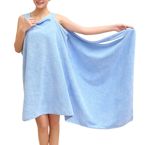 Honana Microfiber Soft Wear Spa Bathrobe Plush Highly Absorbent Bath Towel
