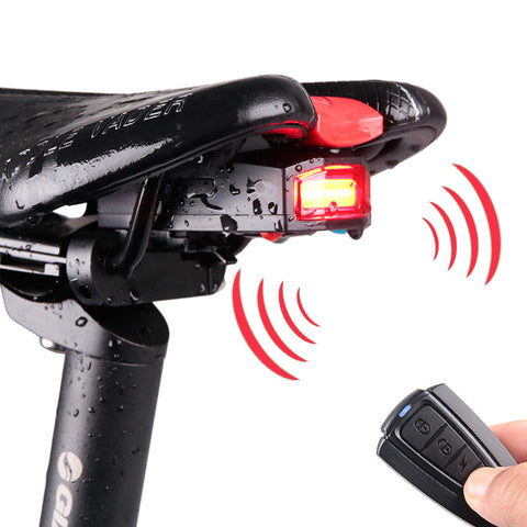 ANTUSI 3 in 1 Bicycle Wireless Rear Light Cycling Alarm Lock, Bike Smart Bell Tailight