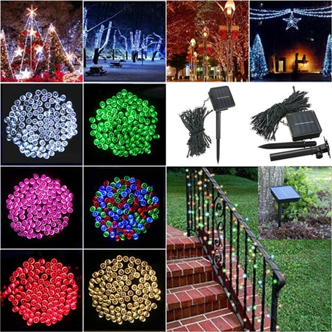 100 LED Solar Powered Fairy String Light Decor - MooBooExpress
