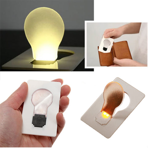 IPRee Portable LED Card Light, Pocket Lamp Wallet Emergency Light