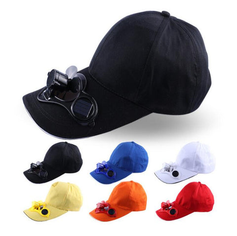 Summer Sport Outdoor Hat Cap, with Solar Sun Power Cool Fan