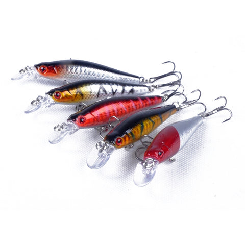 ZANLURE 5Pcs Fishing Lures, Lifelike Diving Bait Hooks - MooBooExpress