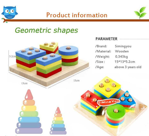 Educational Puzzle Geometry Shape Learning Tools Toys