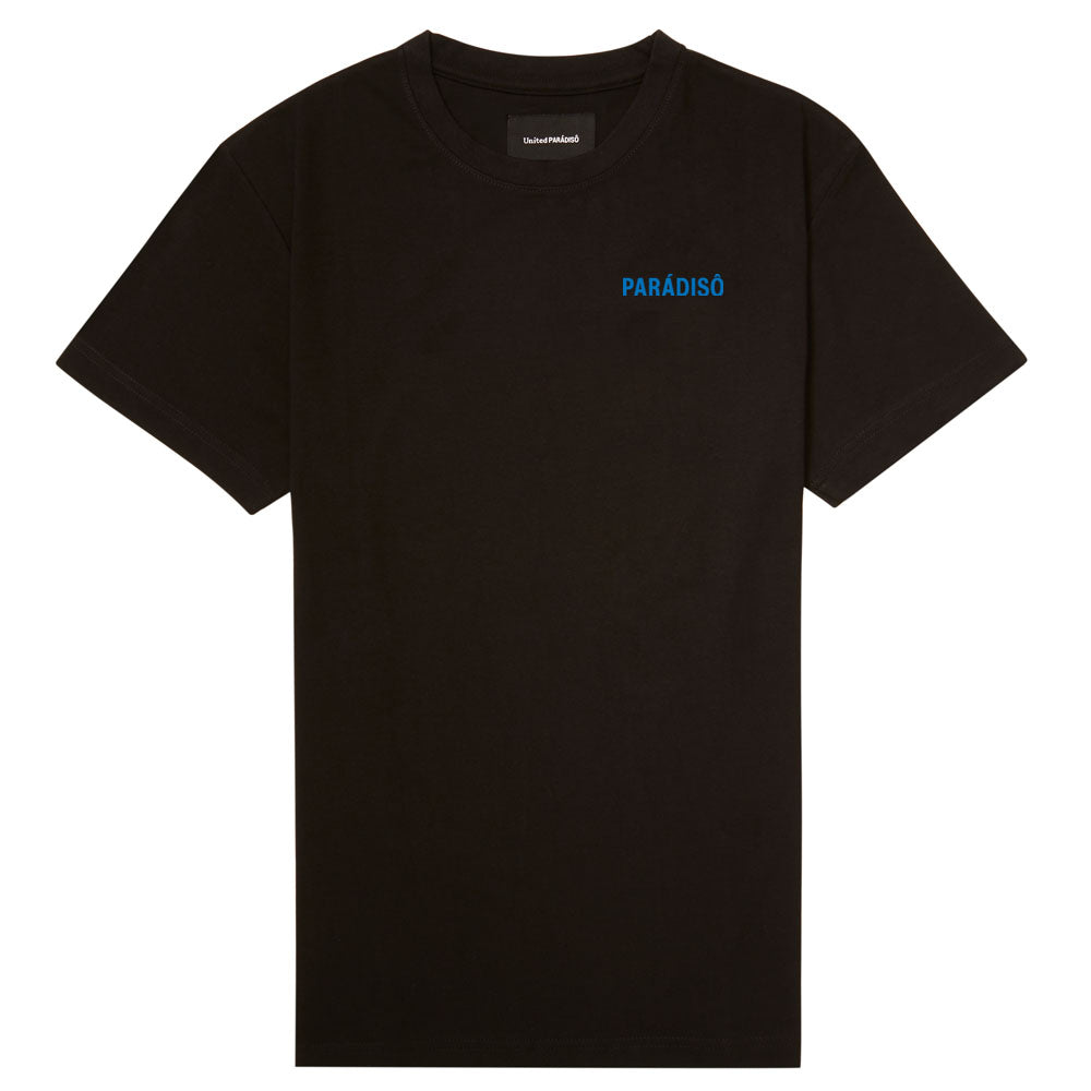 Load image into Gallery viewer, BLACK 'THE WORLD IS OURS' SUPIMA T-SHIRT