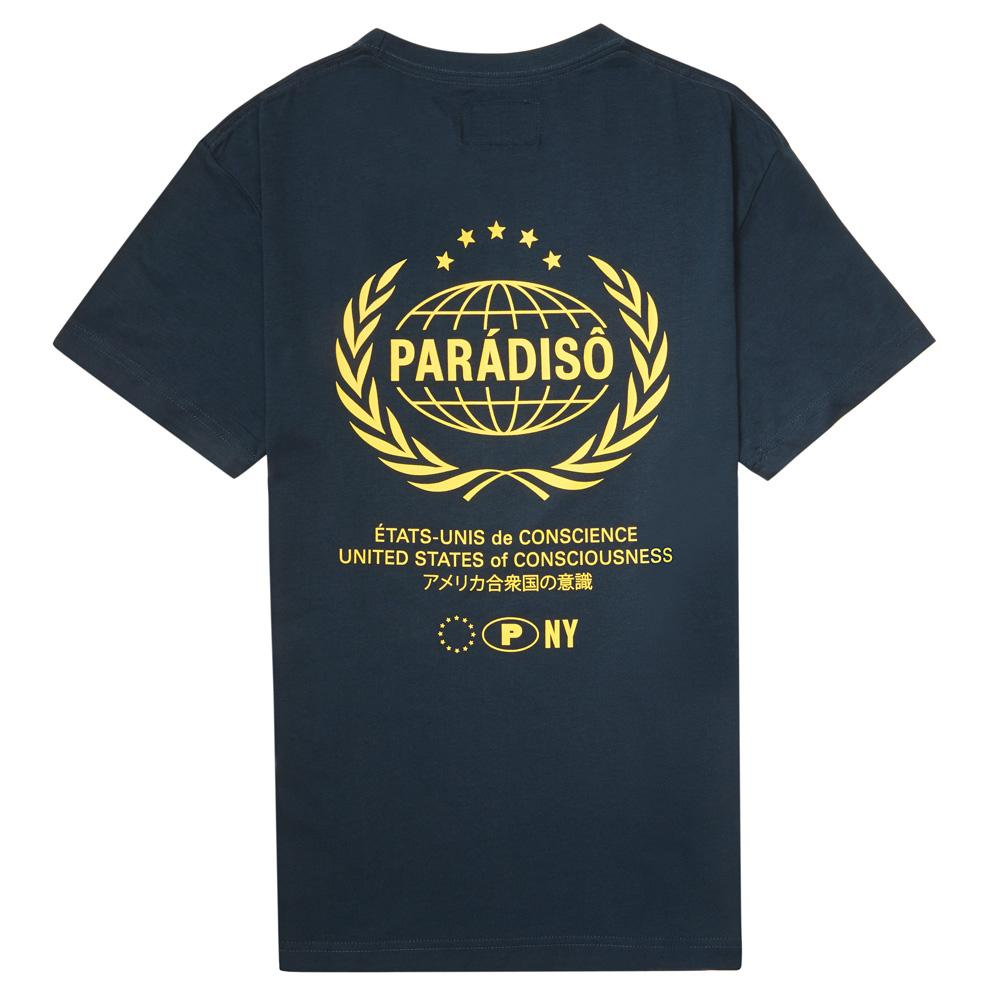 Load image into Gallery viewer, Paradiso Navy Crested Short-Sleeved Supima T-Shirt Back