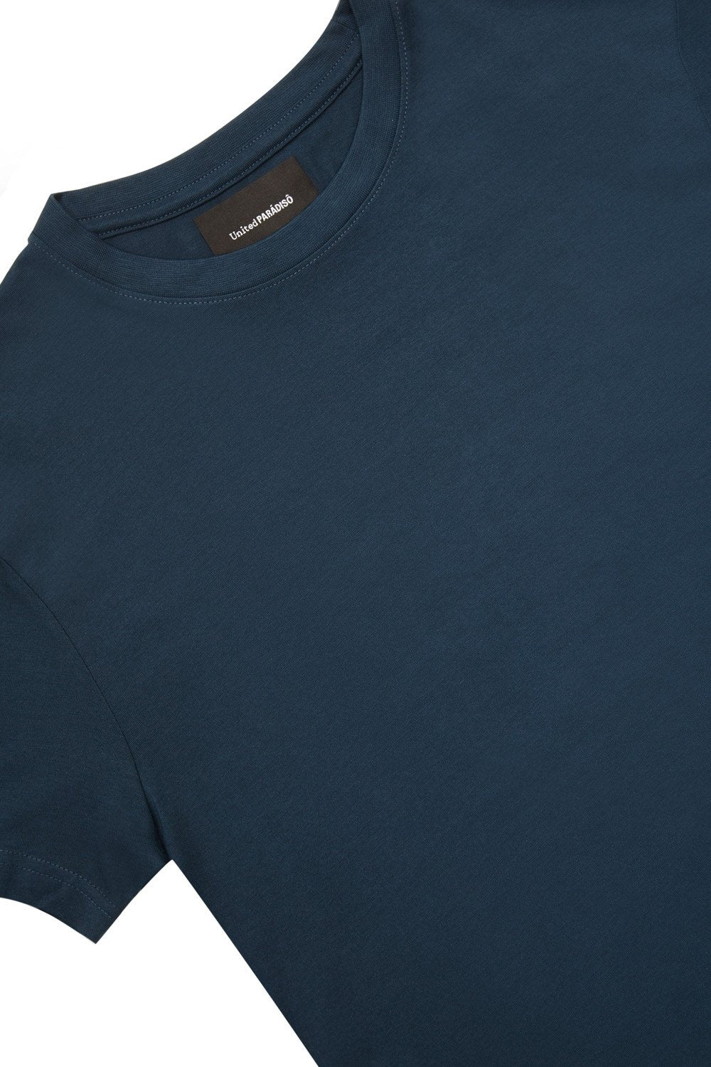 Load image into Gallery viewer, Paradiso Navy Crested Short-Sleeved Supima T-Shirt Front Detail