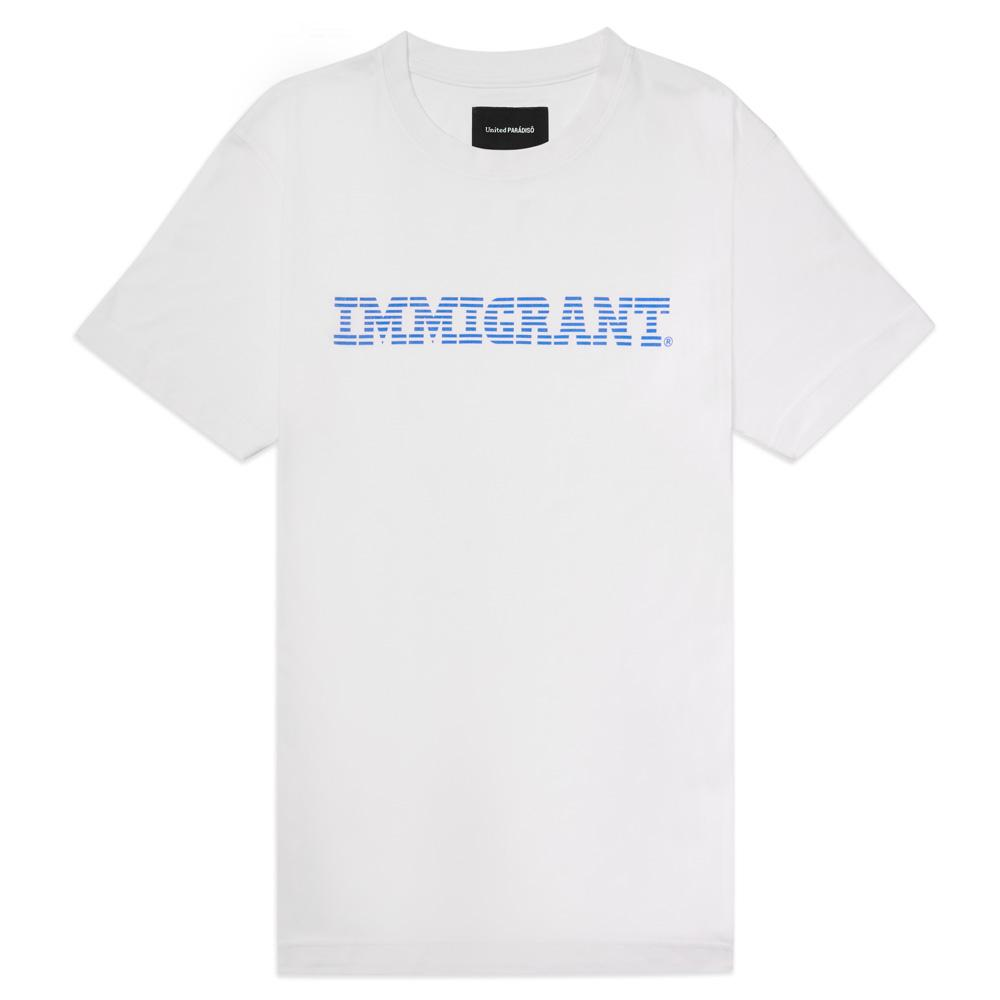 Load image into Gallery viewer, Paradiso White Immigrant Short-Sleeved Supima Charity T-Shirt Front