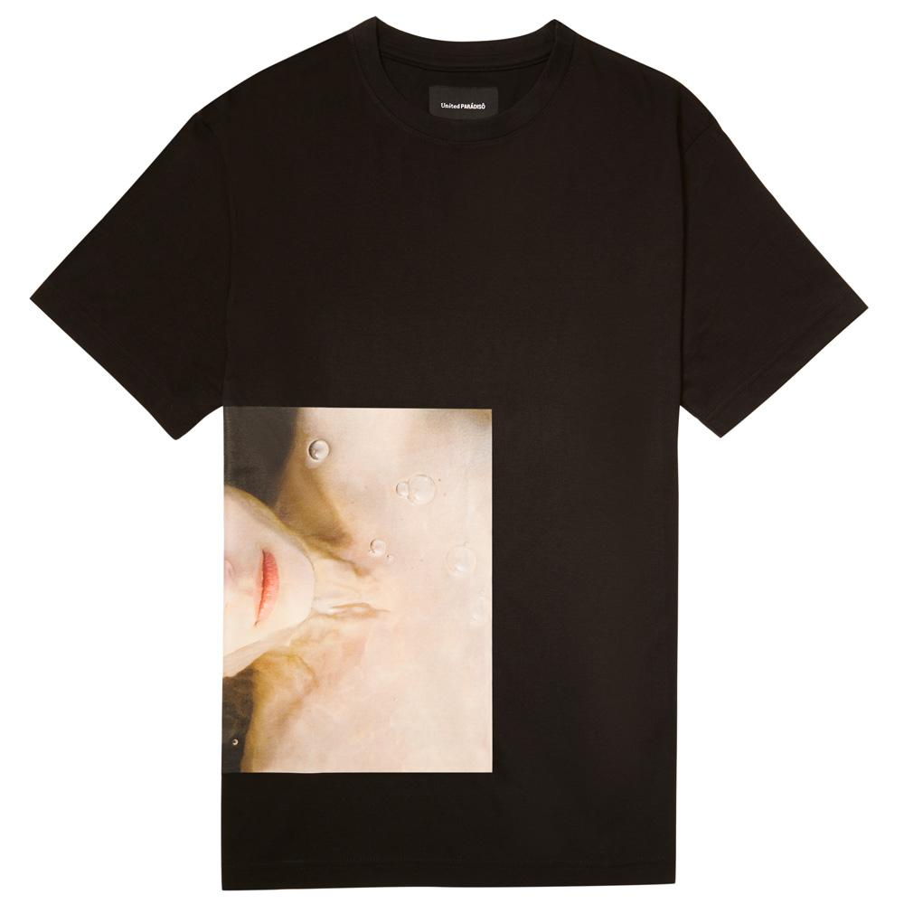 Load image into Gallery viewer, Paradiso Black Larissa Short-Sleeved Supima Charity T-Shirt Thomas Lohr Front