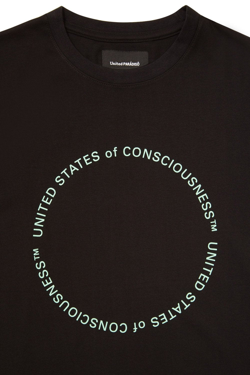 Load image into Gallery viewer, BLACK 'UNITED STATES OF CONSCIOUSNESS' SUPIMA® T-SHIRT