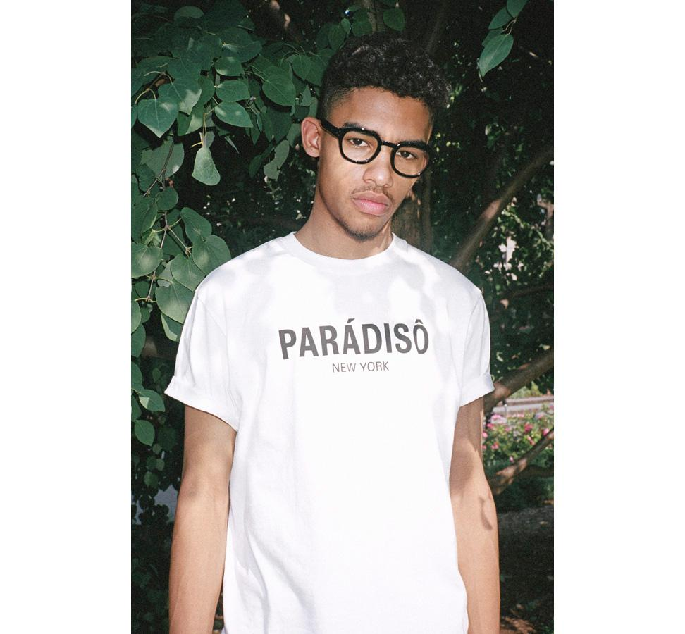 Paradiso White Logo Short-Sleeved Supima T-Shirt