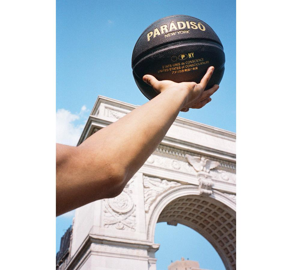 Paradiso Black Regulation-Sized Microfiber Leather All-Court Basketball