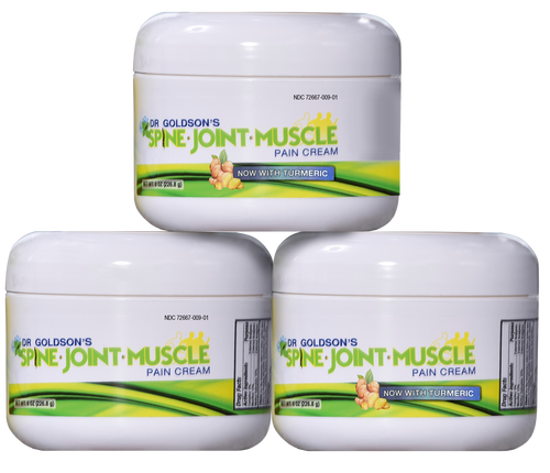 Dr. Goldson's Spine Joint, Muscle Pain Cream With Turmeric